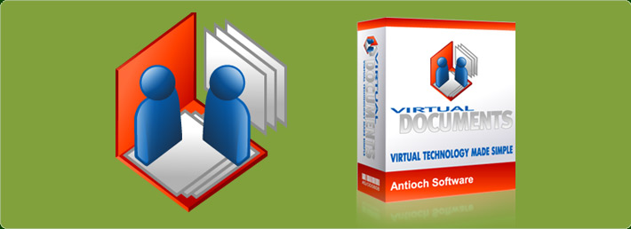 Virtual Documents Logo and Software Box (antiochsoftware.com)