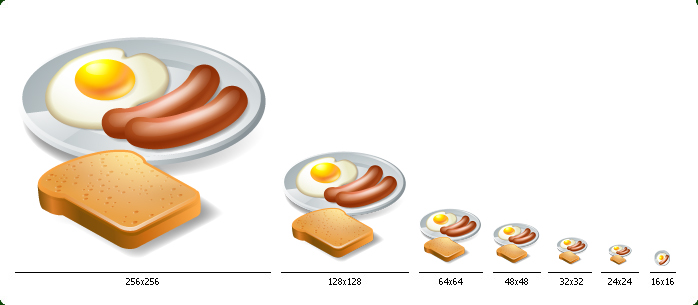 3D Food Icons with Custom Icon Design Service