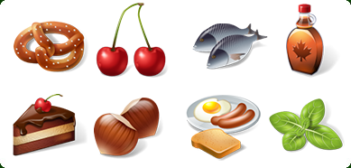 Click to view Icons-Land 3D Food Icon Set 1.0 screenshot