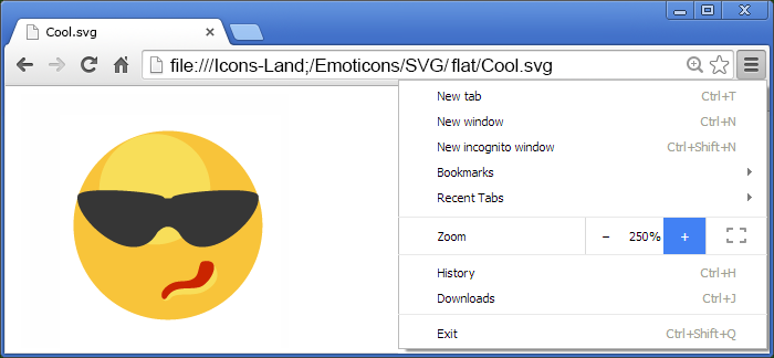 Flat SVG Emoticons - one icon in Adobe Illustrator