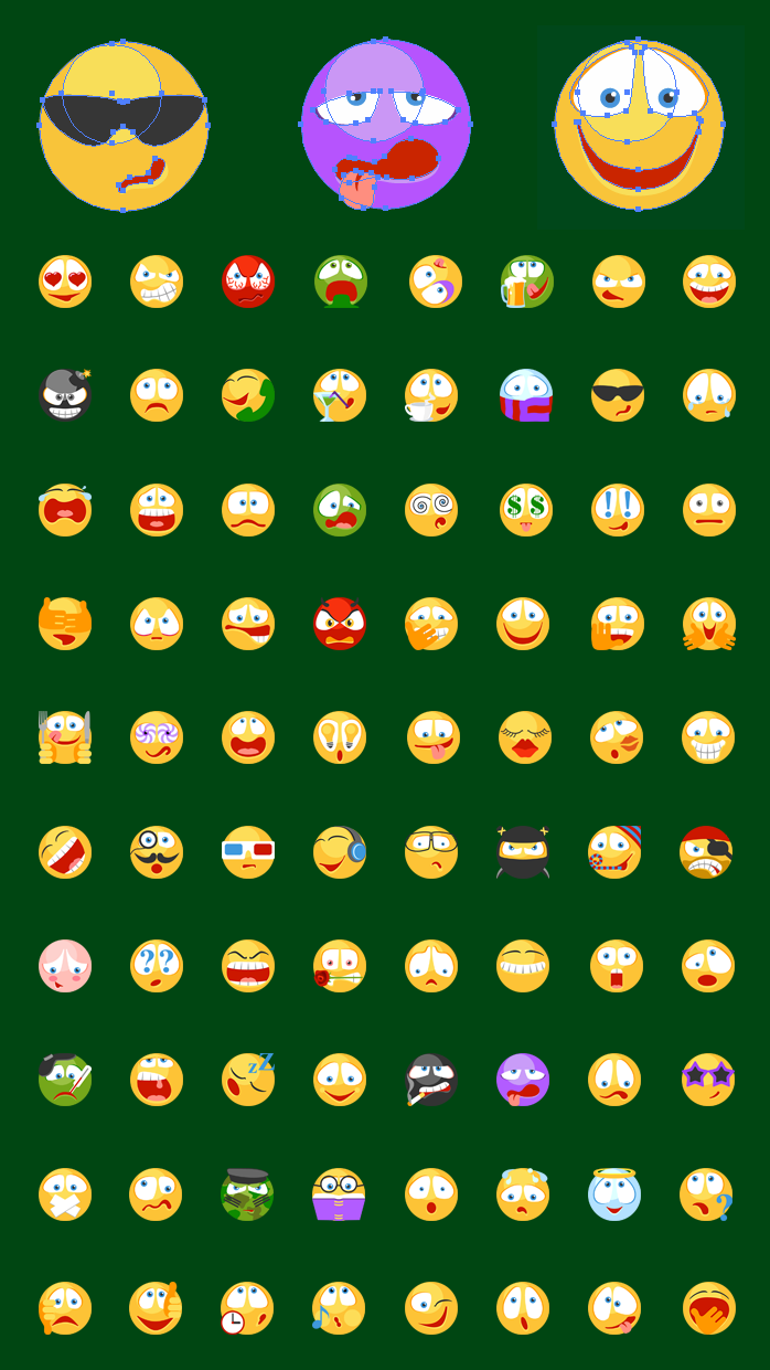 Emoticons SVG Icons