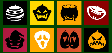 Metro Halloween Pumpkin Emoticons