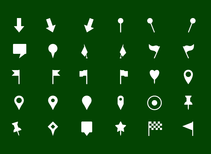 Metro Map Markers Icons - Solid icons