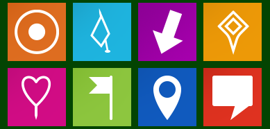 Metro Map Markers Icons Set