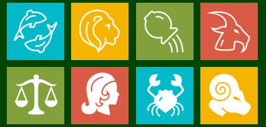 Metro Zodiac Icon Set