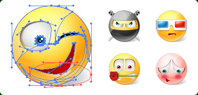 vector emoticons, emoticons, vector smiley, vista vector icons, vector vista ico