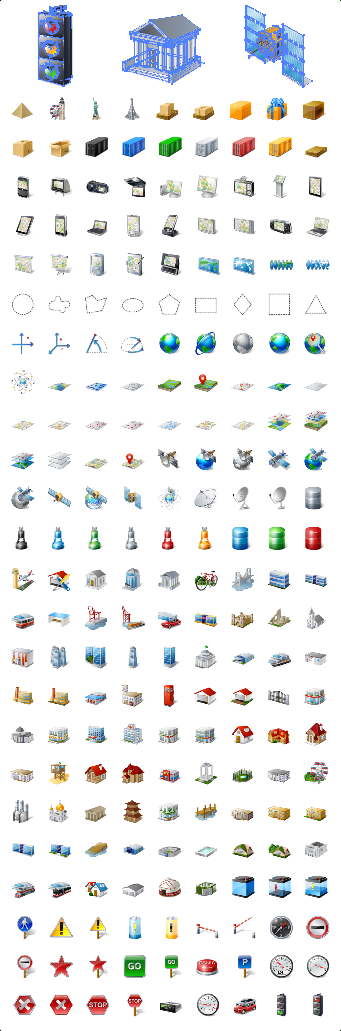 Icons-Land GIS/GPS/MAP Vector Icons Screenshot