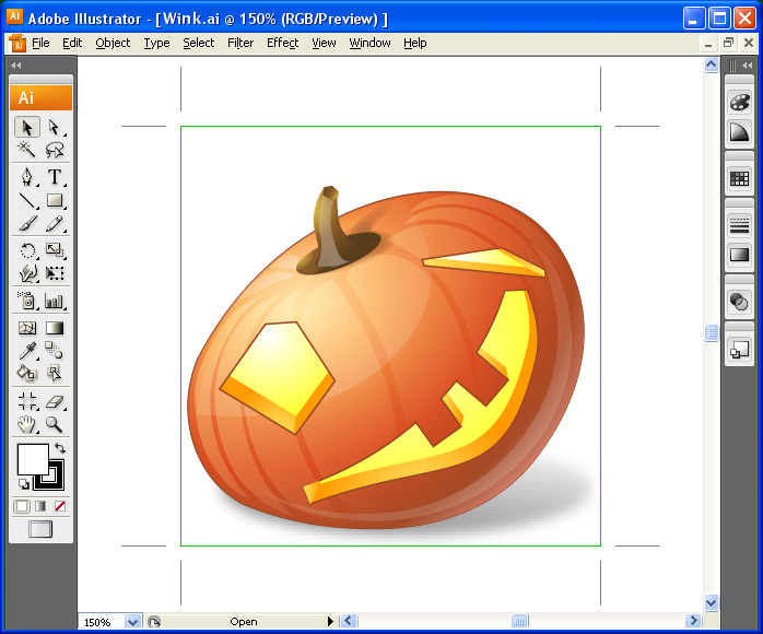 Vector Halloween Pumpkin Emoticons - one icon in Adobe Illustrator