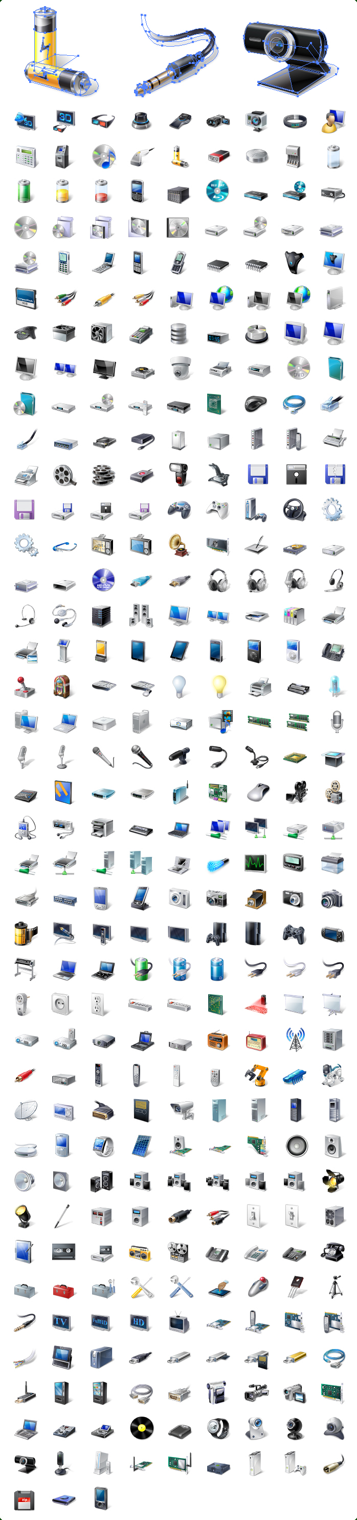Vector Hardware & Devices Icons