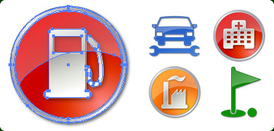 Click to view Icons-Land POI Vector Icons 1.0 screenshot