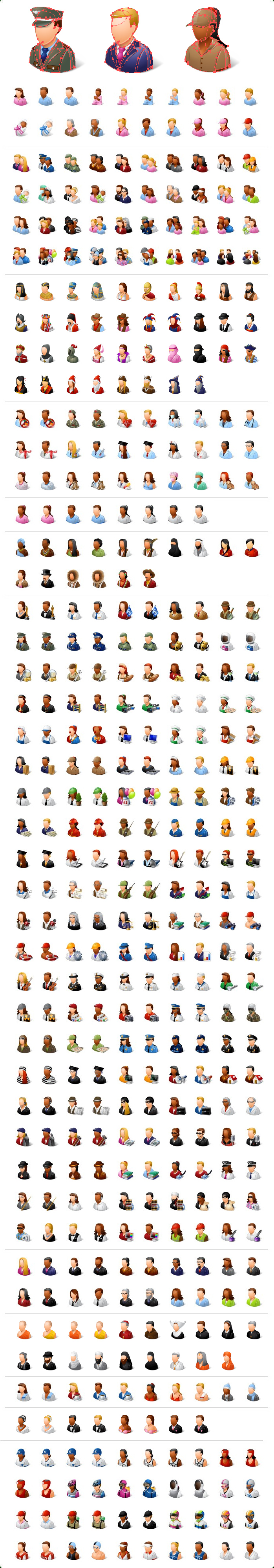 Vector People Icons, Vector Jobs Icons