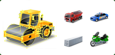 Click to view Icons-Land Transport Vector Icons screenshots
