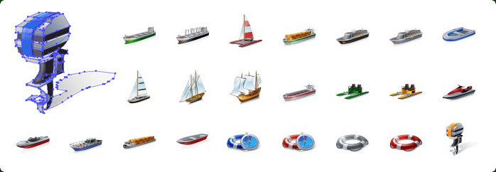 Cruise Ship Vector Icon, Cargo Ship Vector Icon, Sail Ship Vector Icon, Watercrafts Vector Vector Icons, Watercraft Equipment Vector Vector Icons