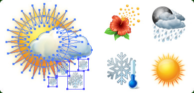 Click to view Icons-Land Weather Vector Icons 1.0 screenshot
