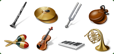Windows 7 Icons-Land Vista Style Musical Instruments Icon Set 1.0 full