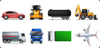 Transport Multiview Icon Set