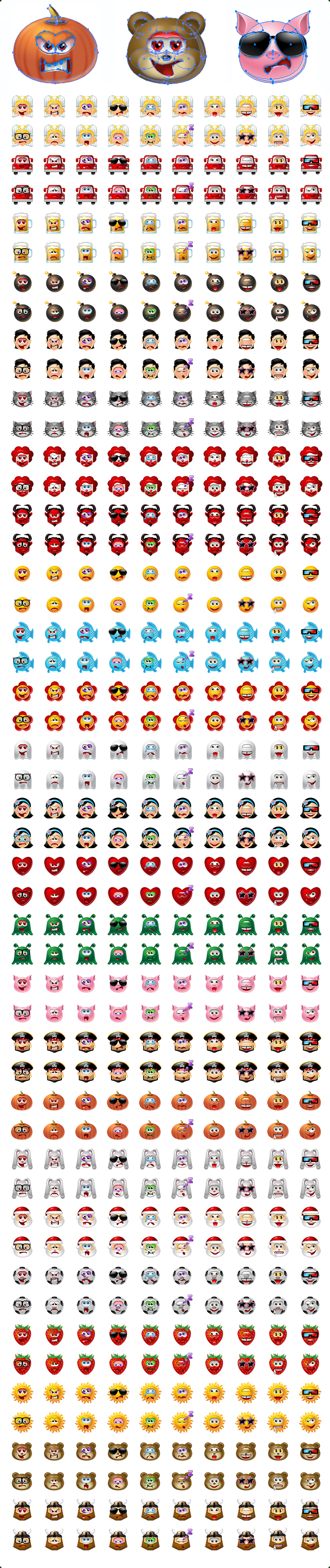 Icons-Land Vector Multiple Smileys Screenshot
