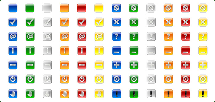 Square Button Icons
