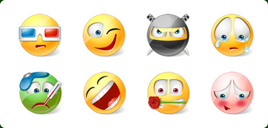 Click to view Icons-Land Vista Style Emoticons 3.0 screenshot