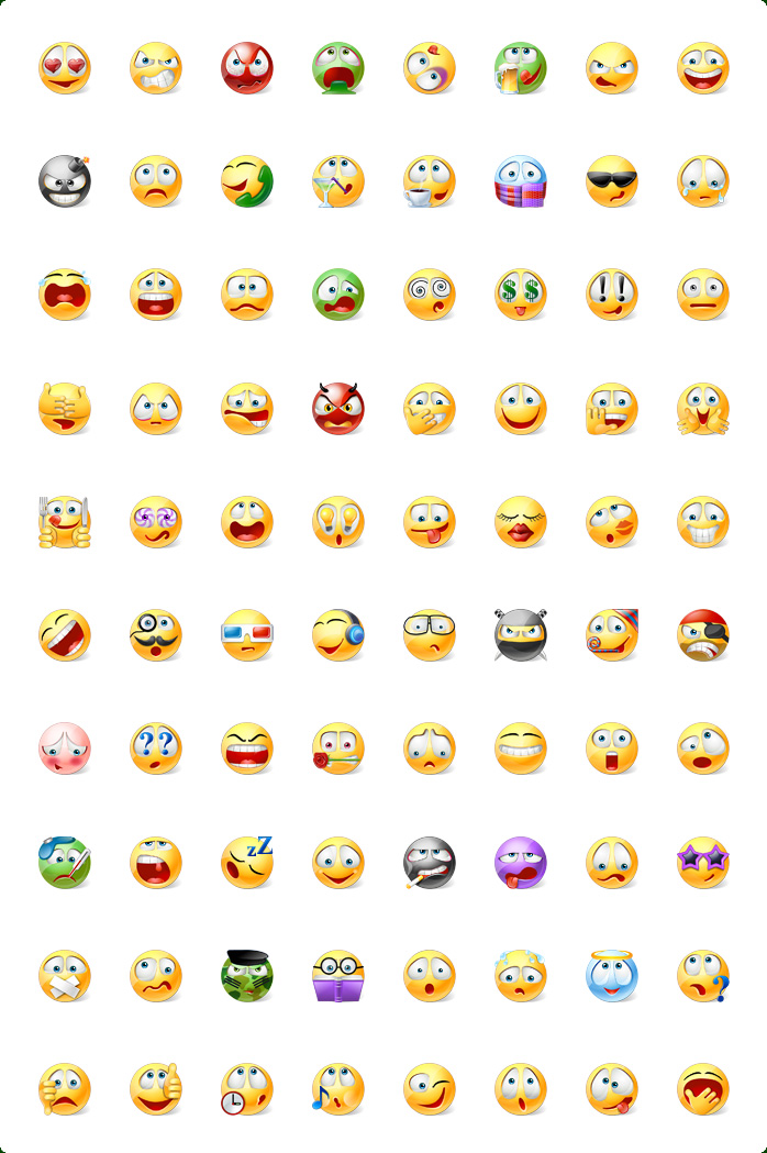 Icons preview of Vista Style Emoticons