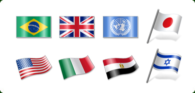New set of icon that represents flags