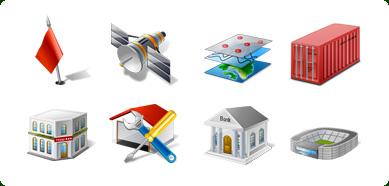 Icons-Land Vista Style GIS/GPS/MAP Icon Set