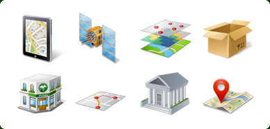 Vista Style GIS/GPS/MAP Icon Set