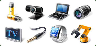 Icons-Land Vista Style Hardware &amp; Devices Icon Set - Icons, Vista Icons, Hardware Icons, Devices Icons, Stock Icons, Royalty-free Icons, PNG Icons, 16x16 Icons, 24x24 Icons, 32x32 Icons, 48x48 Icons, 256x256 Icons - Enhance your software with readily available Vista Style Hardware&amp;Devices Icons