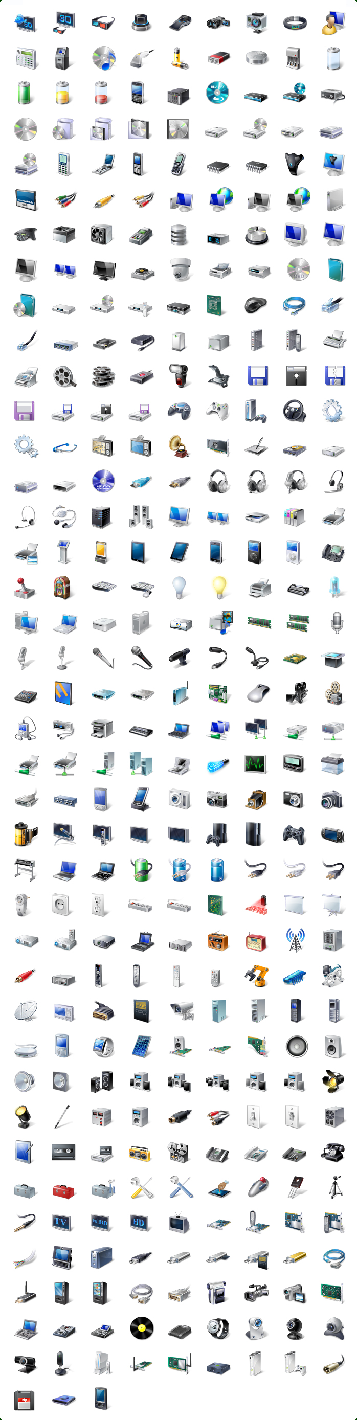 Vista Style Hardware & Devices Icon Set Screenshot