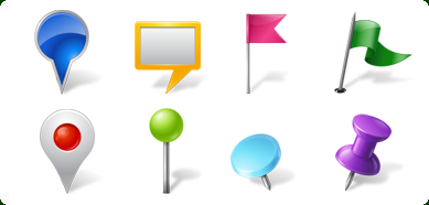 Vista Style Map Markers Icons Set