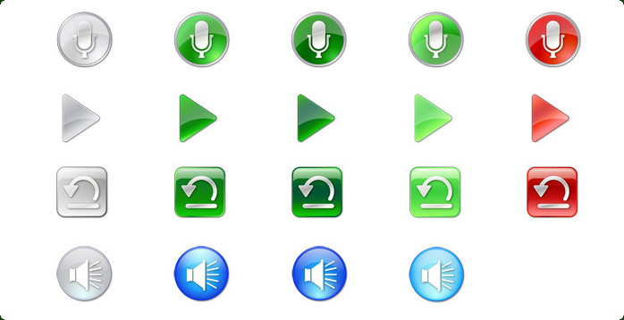Vista Style Multimedia Icon Set Screenshot