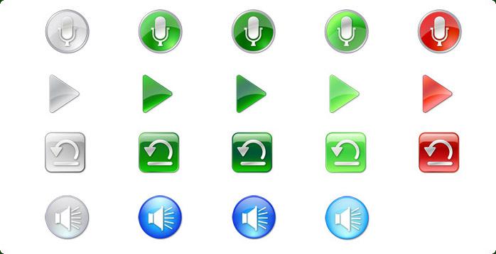 vista style multimedia icon set with custom icon design