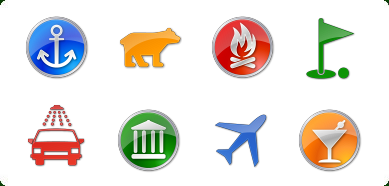 Icons-Land Vista Style POI Icon Set - POI Icons, Points of Interest Icons, GPS Icons, GIS Icons, Map Icons, Vista Icon - Vary your software with ready-made icons for your mapping applications.