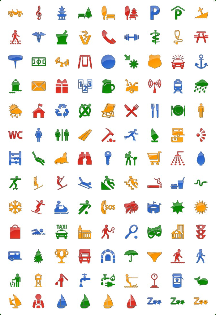 Vista Style Points of Interest Icon Set Screenshot