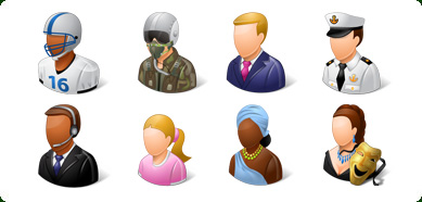 Vista Style for land/ People Icons Set