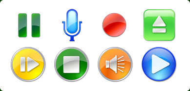 Vista Style Play/Stop/Pause Icon Set