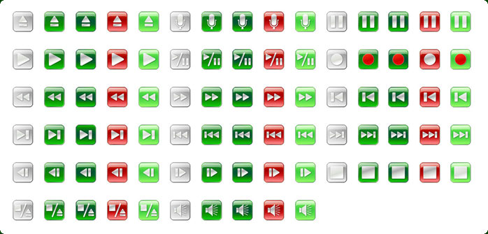 Vista Style Play/Stop/Pause Icon Set Screenshot