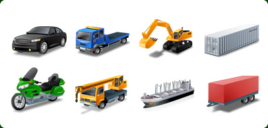 Click to view Icons-Land Vista Style Transport Icon Set 3.0 screenshot