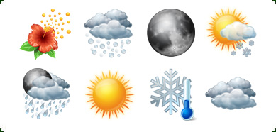 Vista Style Weather Icons Set