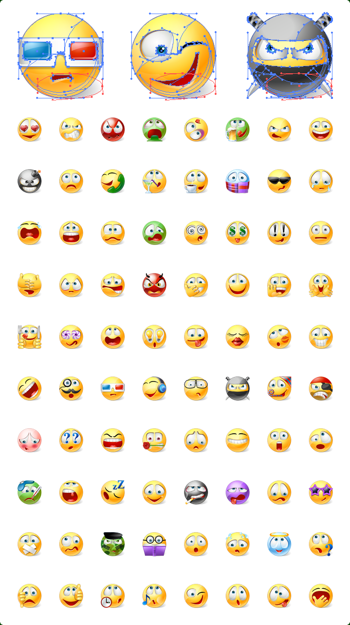 Icons preview of XAML Emoticons